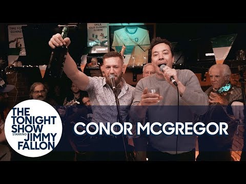 Jimmy and Conor McGregor Hang Out and Sing at an Irish Pub