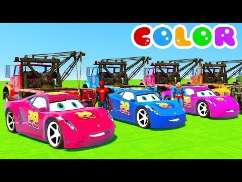 Thumbnail: Learn Colors Cars For Kids With Spiderman Cartoon For Babies Full Episodes In English 2017