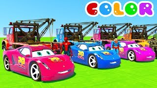 Learn Colors Cars For Kids With Spiderman Cartoon For Babies Full Episodes In English 2017