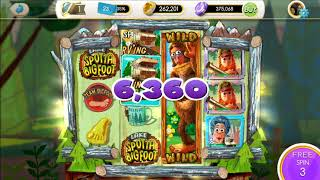 MyVegas LakeSpottaBigFoot spins, wins, jackpot, slots phone game