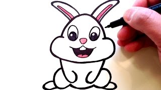 rabbit bunny drawing sketch draw simple drawings head clipartmag paintingvalley getdrawings sketches