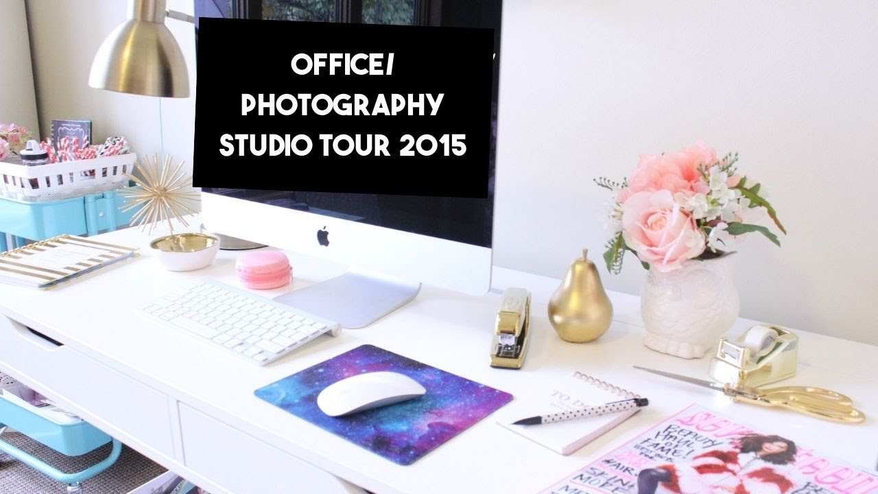 Shabby Chic Office & Photography Studio Tour 2015 - YouTube