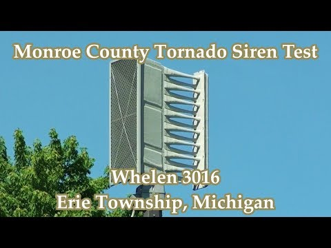 Erie Township, MI Whelen 3016 Siren Test 5-31-17