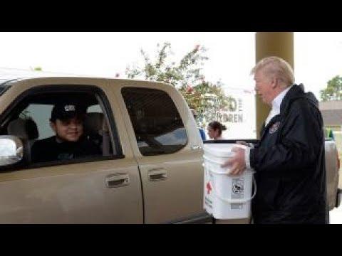 Media praises Trump's response to hurricanes