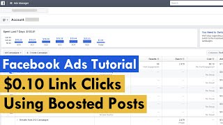 Facebook Ads Tutorial - 10 CENT LINK CLICKS (2016)