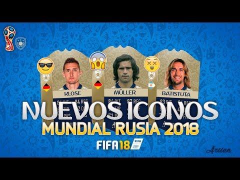 NUEVOS ICONOS EN FIFA 18 DLC MUNDIAL RUSIA 2018! 5 GOLEADORES - FIFA 18 ULTIMATE TEAM