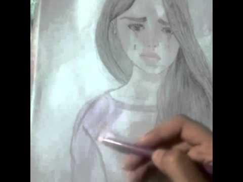 كيفية رسم فتاة تبكى Youtube