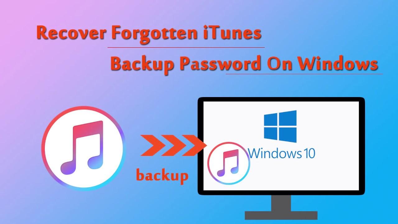 forgot itunes backup password windows