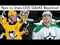NHL PITTSBURGH PENGUINS vs DALLAS STARS LIVE Game Reaction!