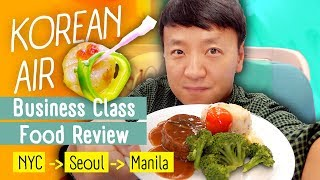 Download Korean Airlines Business Class FOOD REVIEW! WORST Food Menu New York to Manila Mp3 and Videos