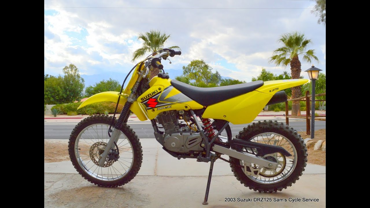 2003 Suzuki DRZ125 For Sale www.samscycle.net - YouTube