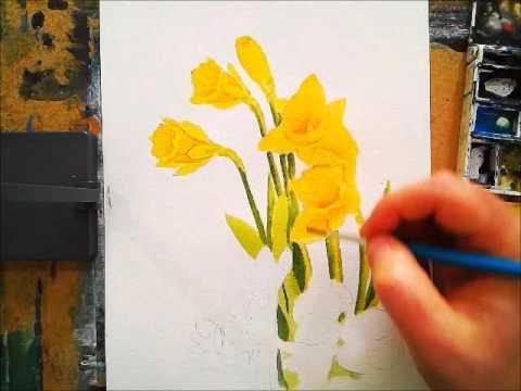 Speed Painting Spring Flowers