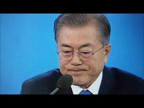 조선일보 정우상 기자, 문재인 코너 몰다 (신년회견 베스트샷)