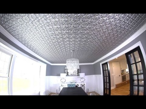 How To Install A Faux Metal Ceiling Youtube