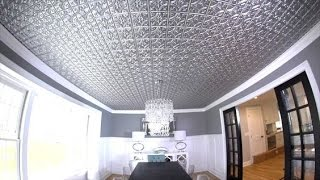How to Install a Faux Metal Ceiling