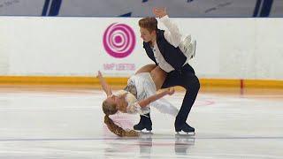 Юниоры Произвольный танец Танцы на льду Кубок России по фигурному катанию 2020 21
