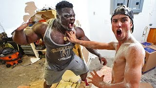Blessing Awodibu came over to our house and destroyed it! Live on T...