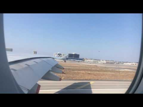 TAKING OFF FROM LA LAX TO LONDON LHR