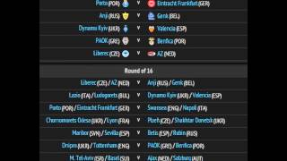 UEFA Europa League-Round of 32 and Round of 16 draws 2014