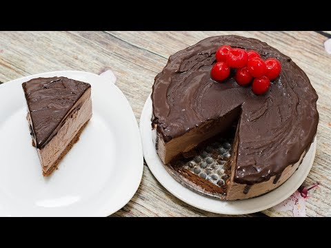 CHOCOLATE ICE CREAM CAKE L EGGLESS & WITHOUT ICE CREAM MACHINE