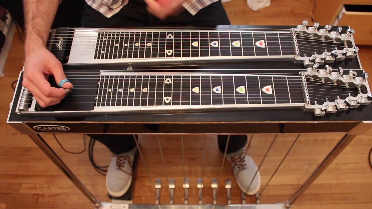 Guitar lick pedal steel