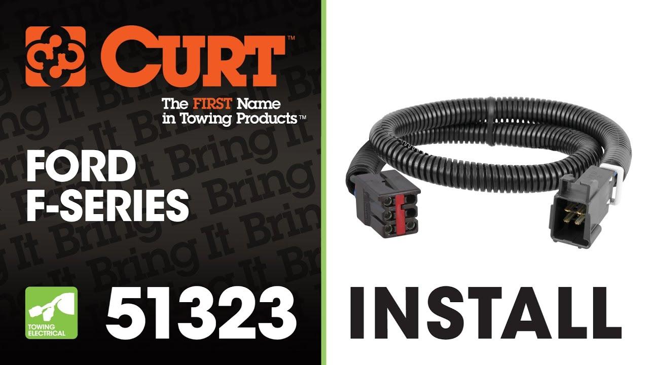 medium resolution of trailer wiring install curt 51323 on a ford f 150