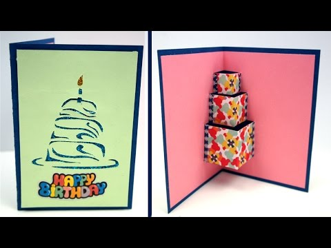 Easy DIY Birthday Card How to make YouTube