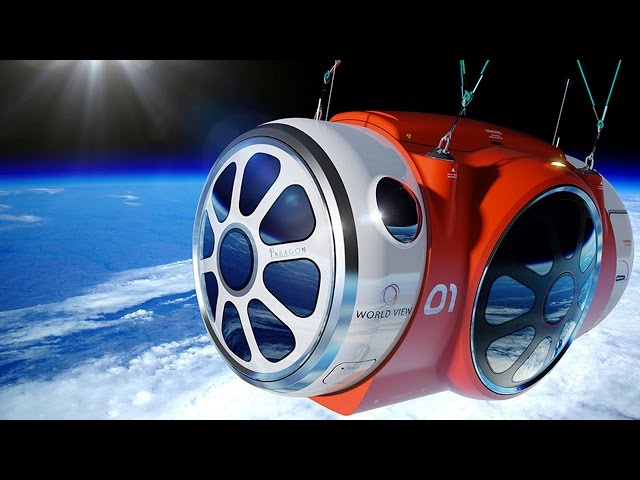 Space balloon to lift tourists into space, Virgin Galactic SpaceshipTwo - space tourism compilation
