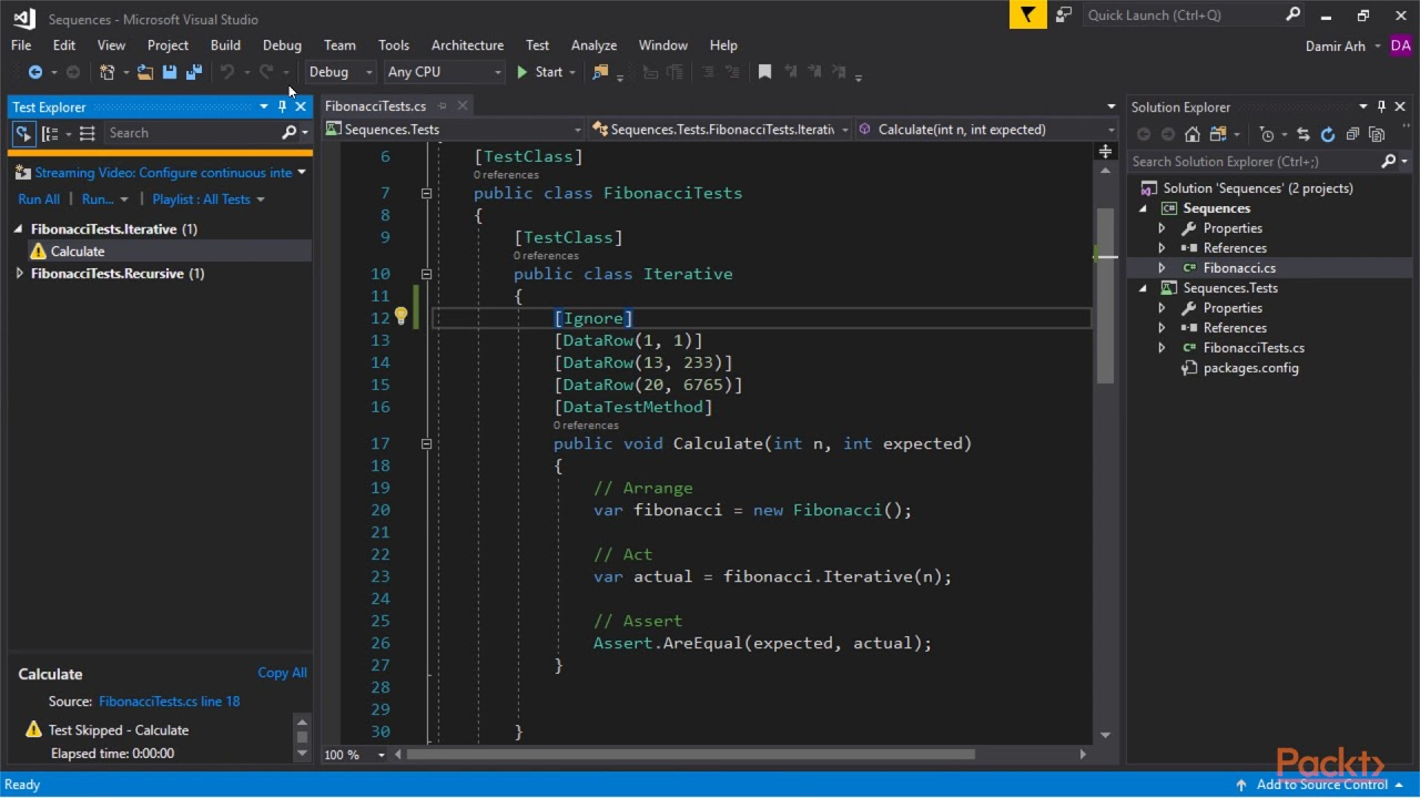 Debugging & Unit Testing in Visual Studio 2017 : Running Unit Tests after  Every Build | packtpub com