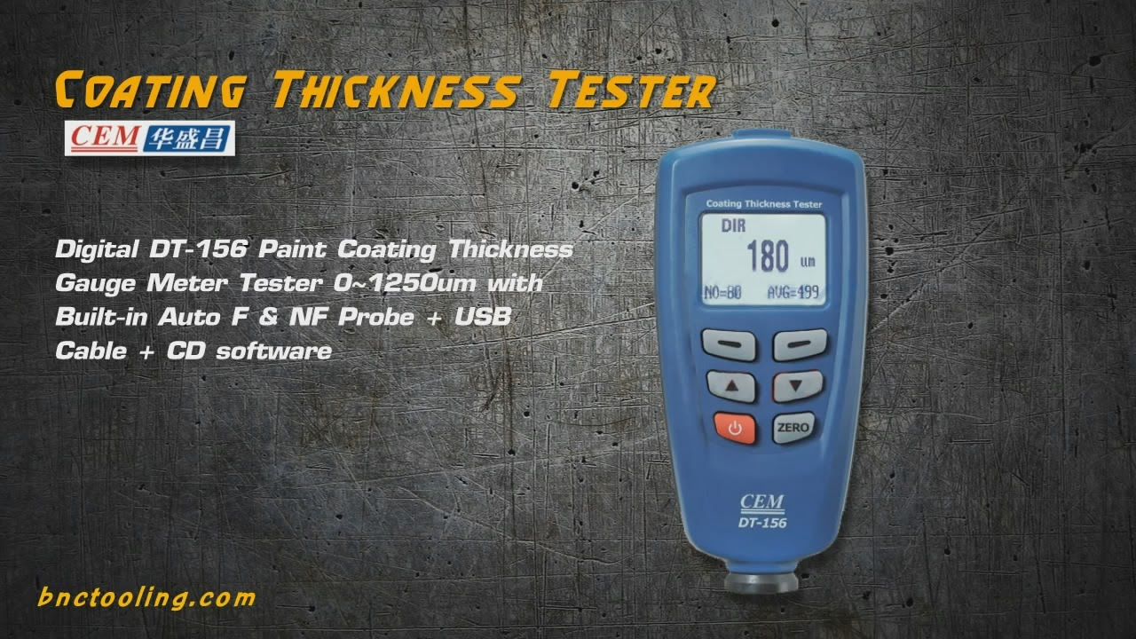Cem Coating Thickness Tester Dt 156 Youtube