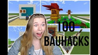 100 Bau-Hacks in Minecraft