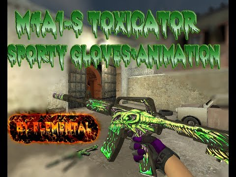 M4A1-S Toxicator [Gloves+Animation]