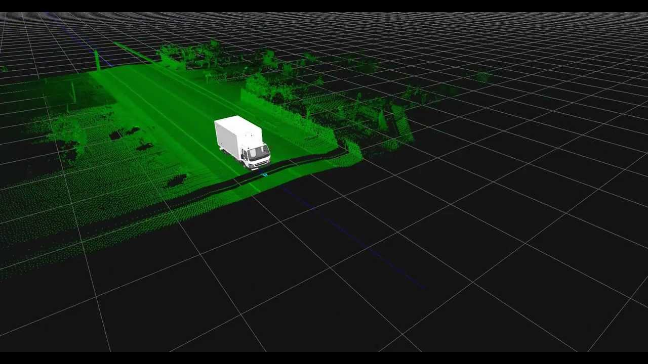 Data from a SICK LIDAR mounted on a truck