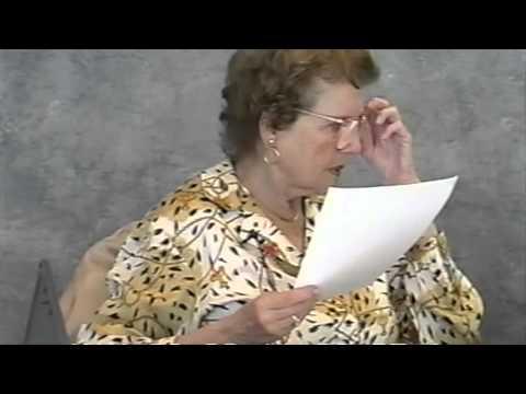 Maria Altmann Deposition Vol. I, Tape 1