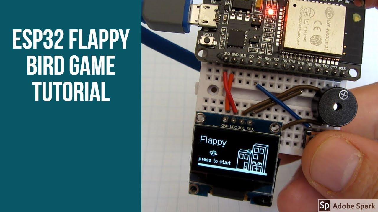 ESP32 Flappy Bird game -tutorial and code