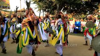Paika being performed by folk dancers of Jharkhand