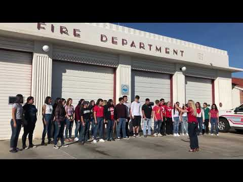 Porterville High School and Bartlett Middle School Tribute to the fallen Porterville Firefighters.