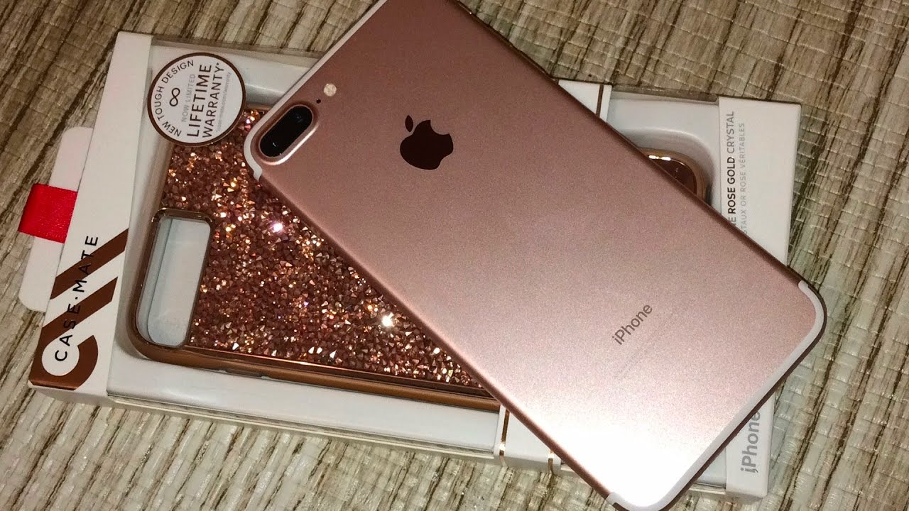 a2049965817 Case-Mate Rose Gold Brilliance Case for iPhone 7 Plus Unboxing - YouTube