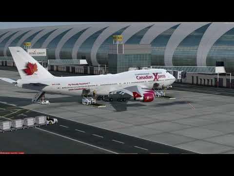 Boeing 747-400 Dubai (OMDB) to Moscow (UUEE) P3D v4.1