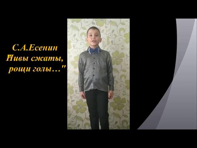 Изображение предпросмотра прочтения – ДанилЗинченко читает произведение «Нивы сжаты, рощи голы...» С.А.Есенина
