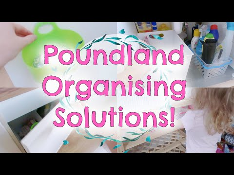 Budget organising solutions | Poundland hacks to organise your life!