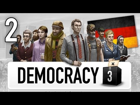 Let's Play Democracy 3 German #2 Deutschland im neuen Glanz