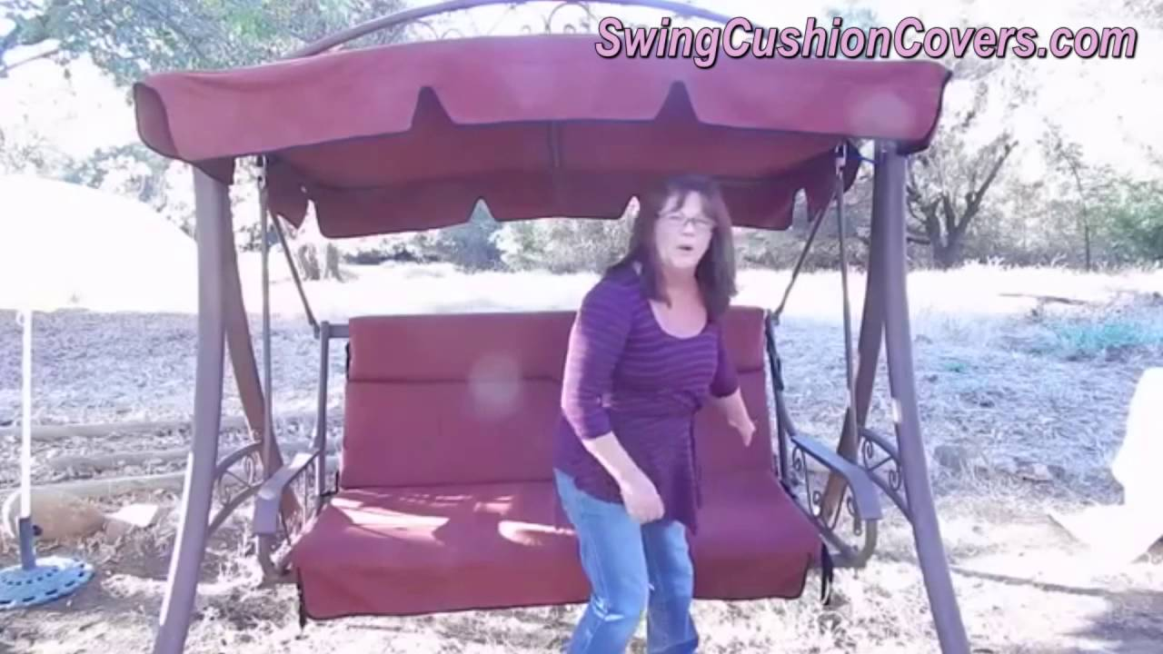 costco patio swing canopy and cushion replacement video