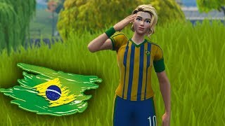 FORTNITE-I PUT THE SKIN OF BRAZIL AND WON THE 13K CUP