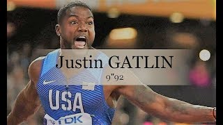 Justin Gatlin dethroned bolt for his last 100 m