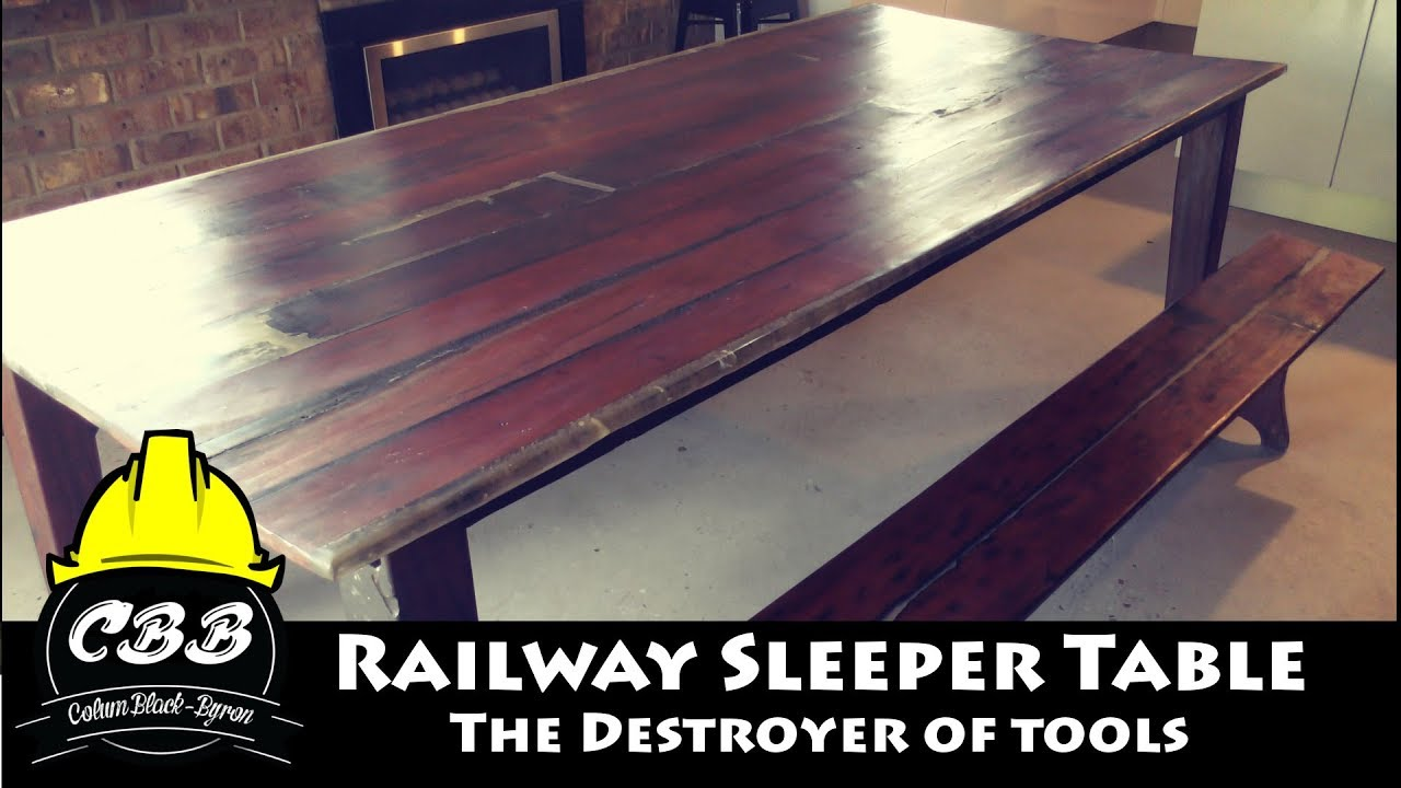 Epoxy & Railway Sleeper Table - The Destroyer of Tools