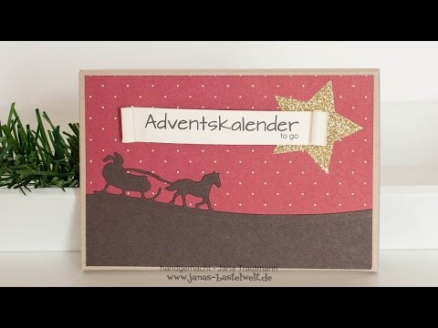 tutorial adventskalender to go youtube. Black Bedroom Furniture Sets. Home Design Ideas