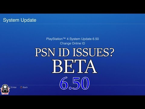 *BIG PSN ID NAME CHANGE ( WHY THIS IS A BIG PROBLEM!)  - PS4 update 6.50 NEW PlayStation Program!