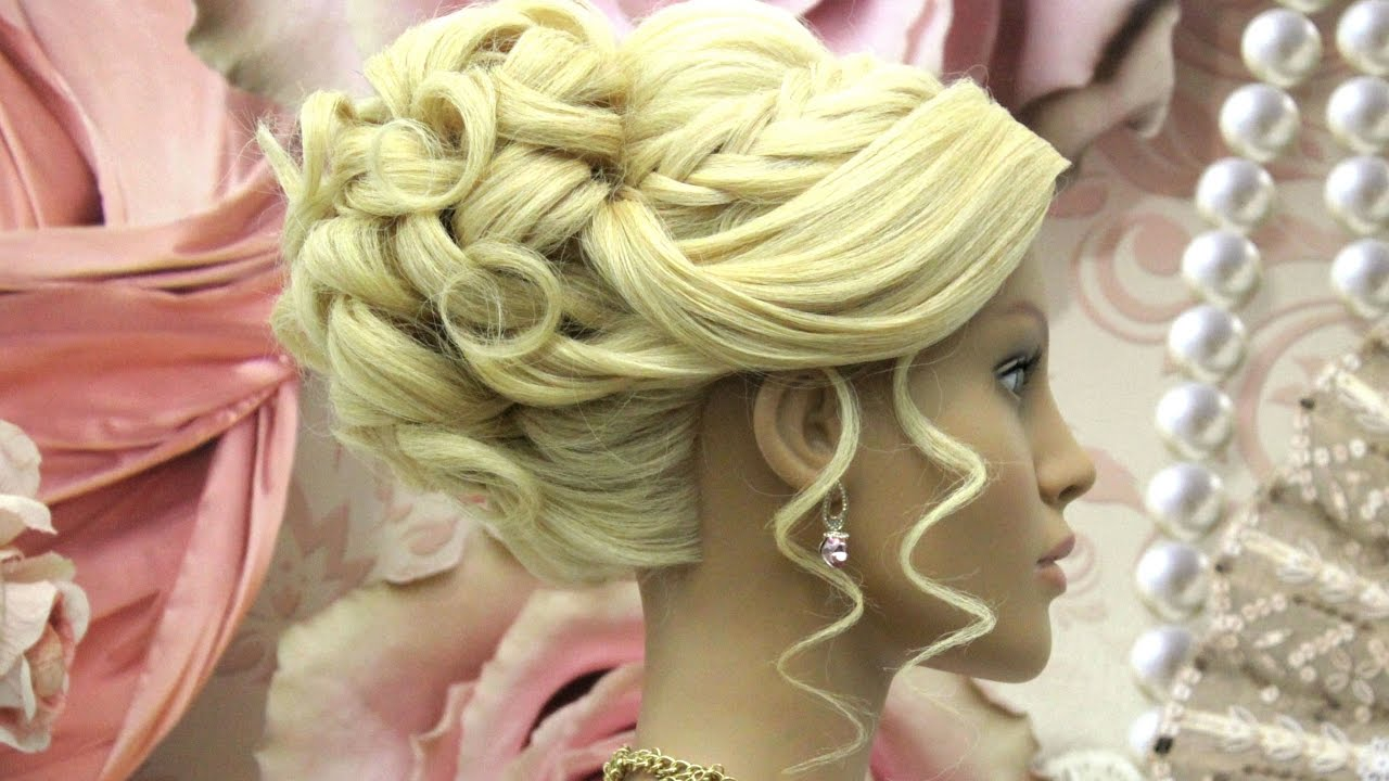 Prom Updo Tutorial Wedding Hairstyle For Long Hair Youtube