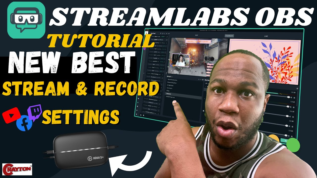Best Streamlabs OBS Settings on Mac for Stream & Record 2021   CRAYTON TV